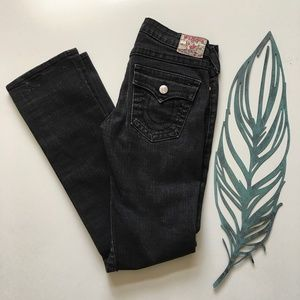 True Religion Charcoal Billy Straight Leg Jeans